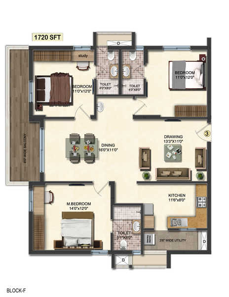 accurate wind chimes apartment 3bhk 1720sqft71