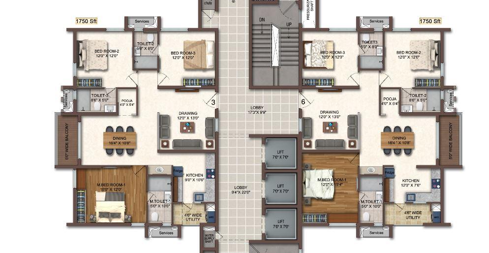 aparna cyberscape apartment 3bhk 1750sqft51