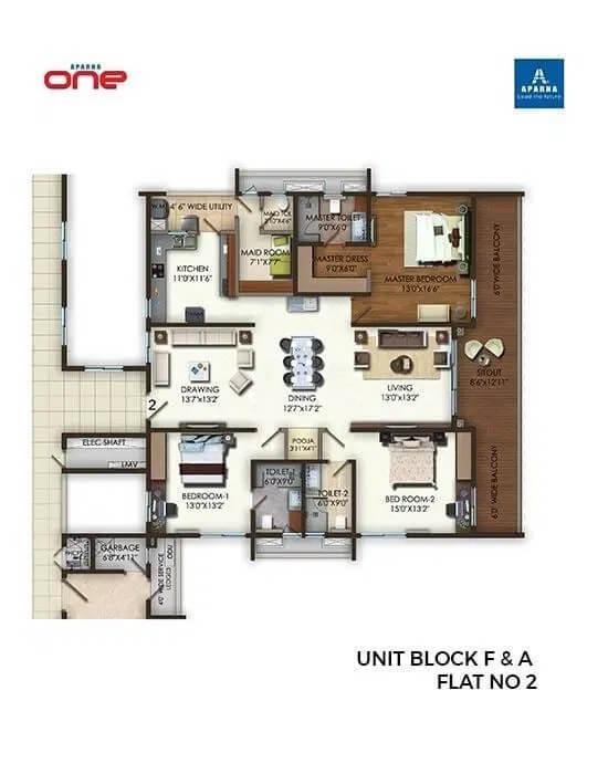 aparna one apartment 3bhk 2876sqft 1