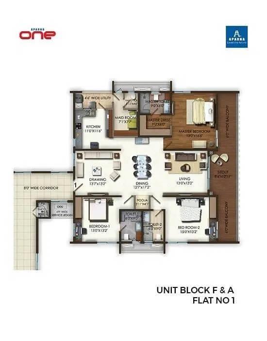 aparna one apartment 4bhk 4155sqft 1