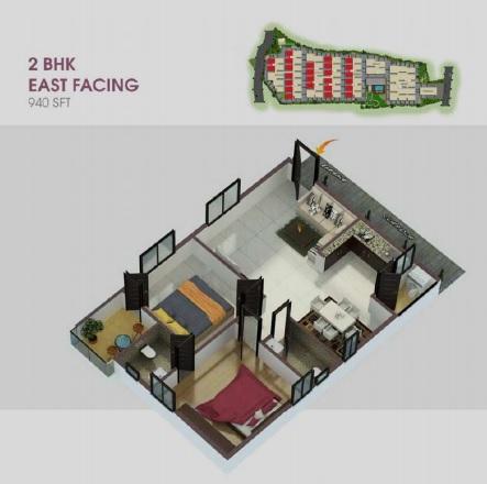 ar alpine square apartment 2 bhk 940sqft 20213004123012