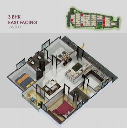 ar alpine square apartment 3 bhk 1350sqft 20212804122825