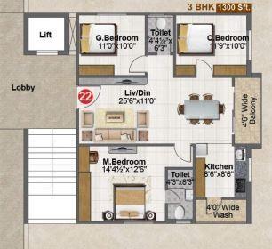 fortune green falcon apartment 3bhk 1300sqft71