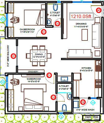 fortune mayura apartment 2bhk 1250sqft 1