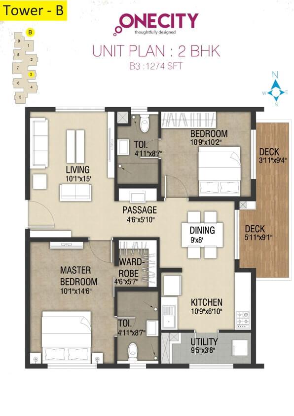 incor one city apartment 2bhk 1274sqft 1