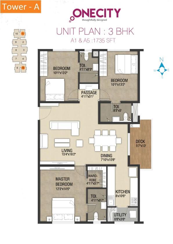 incor one city apartment 3bhk 1735sqft 1