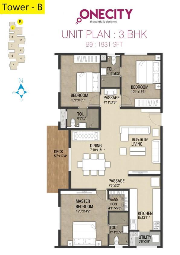 incor one city apartment 3bhk 1931sqft 1