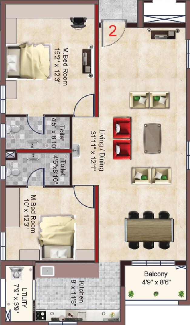 incor pbel city apartment 2bhk 1376sqft 1