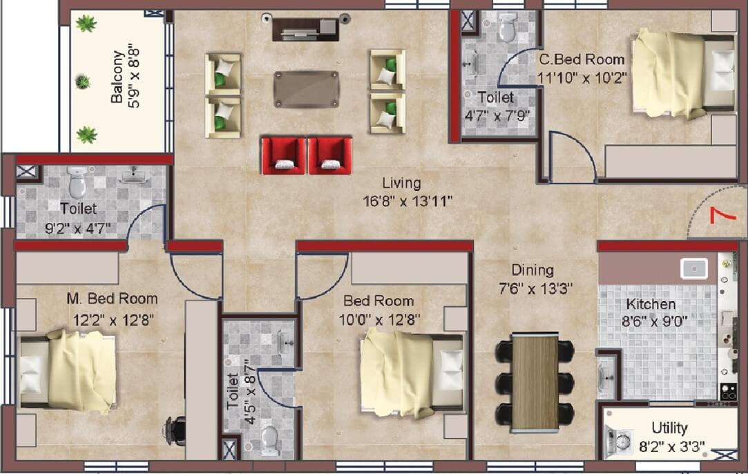 incor pbel city apartment 3bhk 1642sqft 1