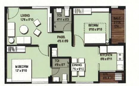 incor vb city apartment 2bhk 842sqft 1