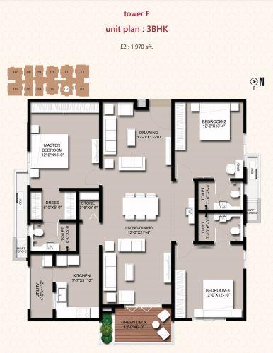 incor vivo city apartment 3bhk 1970sqft21