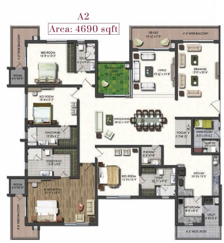 jayabheri the peak apartment 4bhk sq 4690sqft 1
