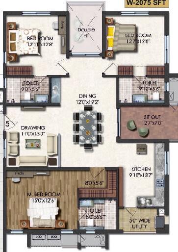 jayabheri the summit apartment 3bhk 2075sqft 1