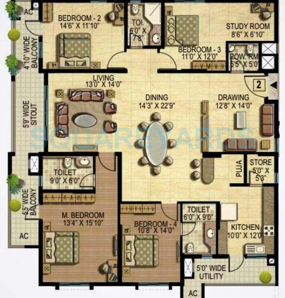k raheja corp quiescent heights apartment 4bhk 3270sqft1