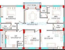 lahari greens apartment 3bhk 1605sqft1