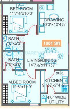 legend jagannath apartment 2bhk 1001sqft1