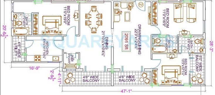 legend le chalet apartment 3bhk 2091sqft1