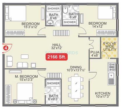 legend suraj apartment 3bhk 2166sqft1