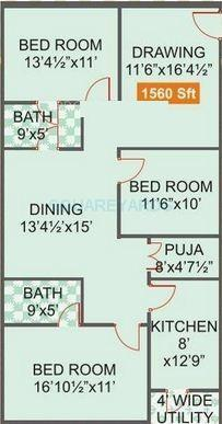 legend venkatesa apartment 3bhk 1560sqft1
