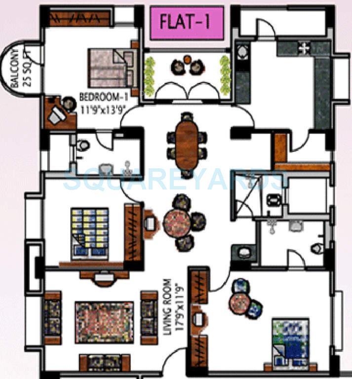 lnt serene county apartment 3bhk 1853sqft1