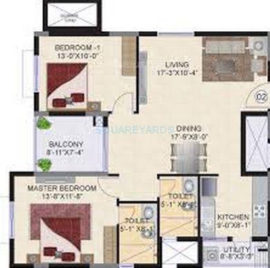 mahindra lifespaces ashvita apartment 2bhk 1218sqft1