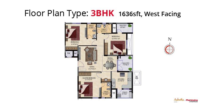 mahindra lifespaces ashvita apartment 3bhk 1567sqft1