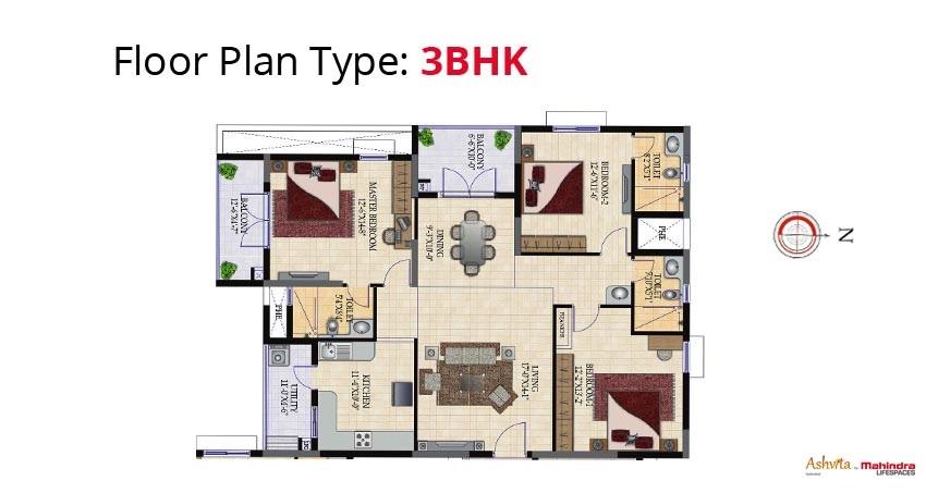 mahindra lifespaces ashvita apartment 3bhk 1783sqft1