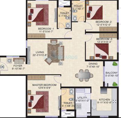 mahindra lifespaces ashvita apartment 4bhk 2070sqft1