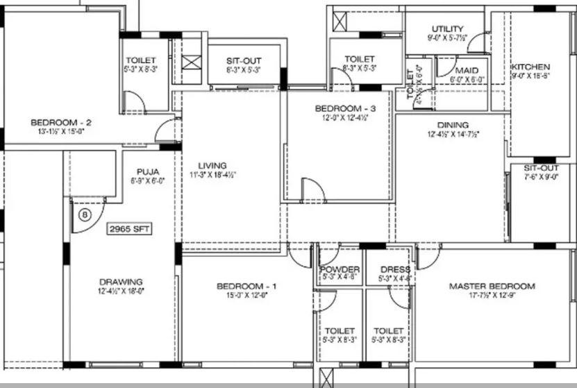 manbhum around the grove apartment 4bhk 2965sqft51