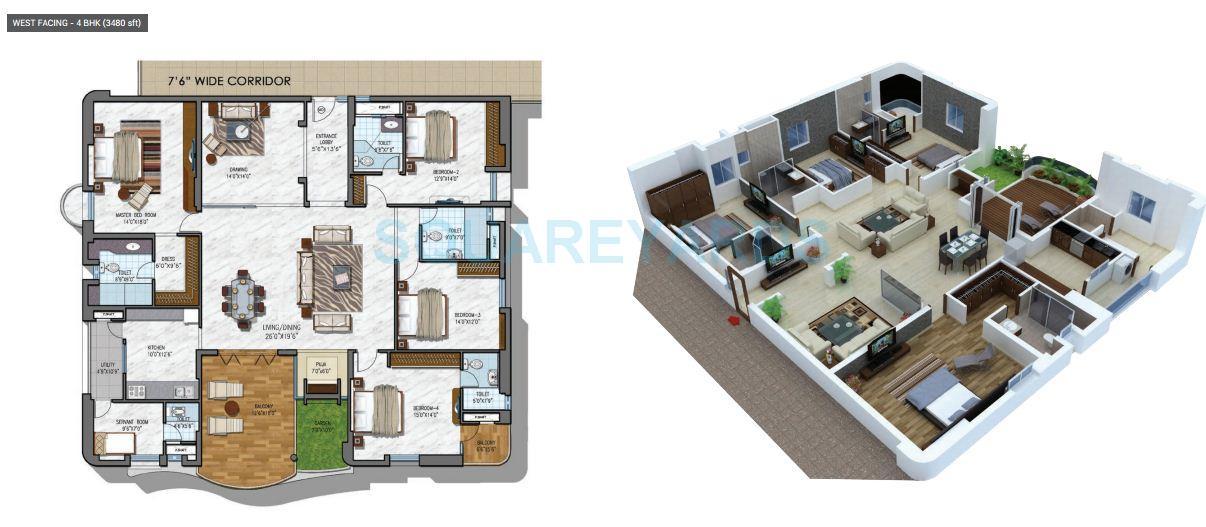 ncc urban gardenia apartment 4bhk 3480sqft1