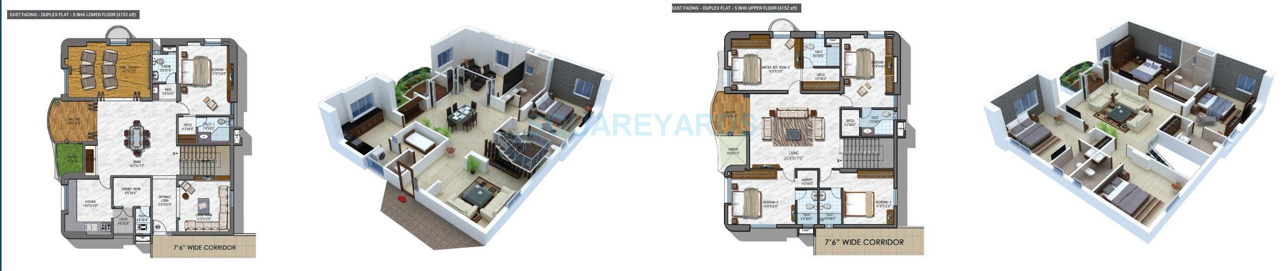 ncc urban gardenia apartment 5bhk 4152sqft1