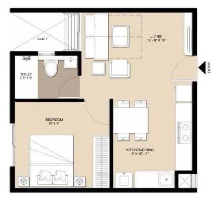 nebula aavaas hyderabad apartment 1bhk 607sqft11