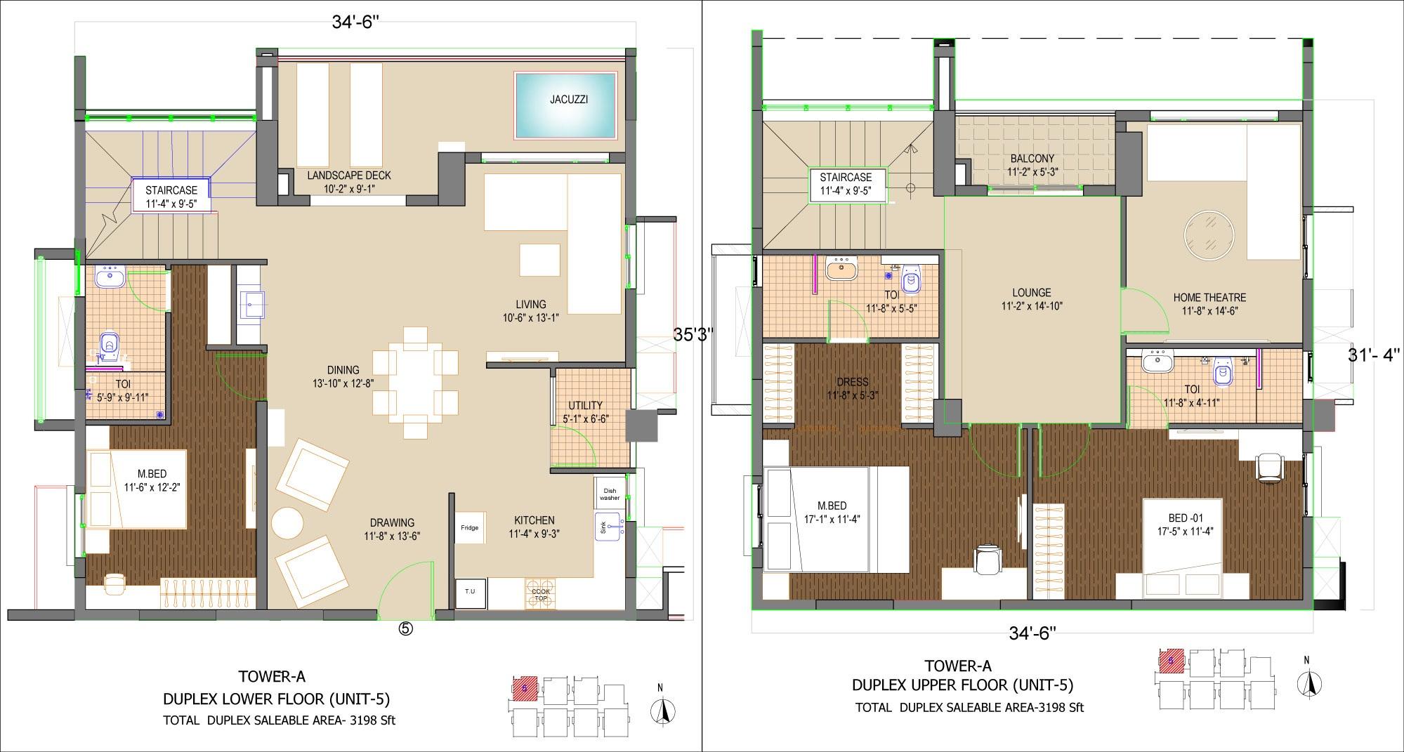 phoenix golf edge apartment 3bhk 3198sqft 1