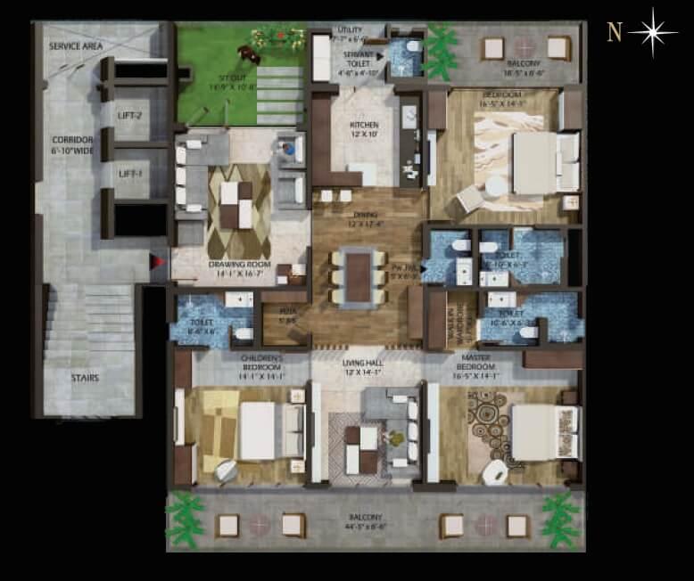 phoenix halcyon apartment 3bhk 3537sqft 1