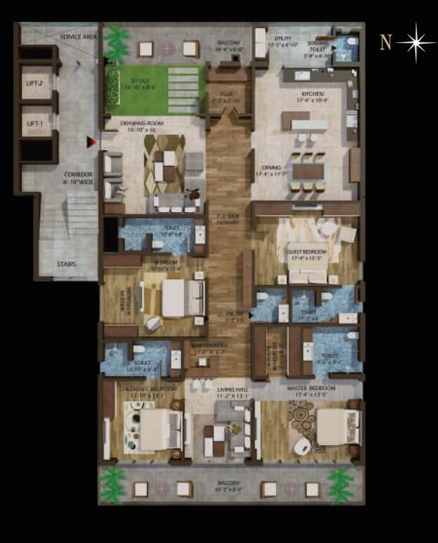 phoenix halcyon apartment 4bhk sq 4897sqft 1