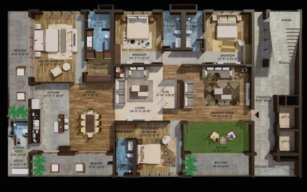 phoenix halcyon apartment 4bhk sq 5190sqft 1
