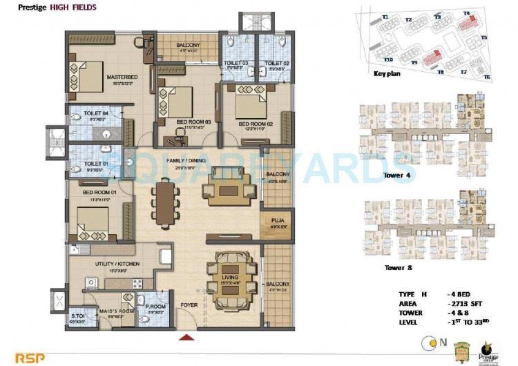 prestige high fields apartment 4bhk 2713sqft1