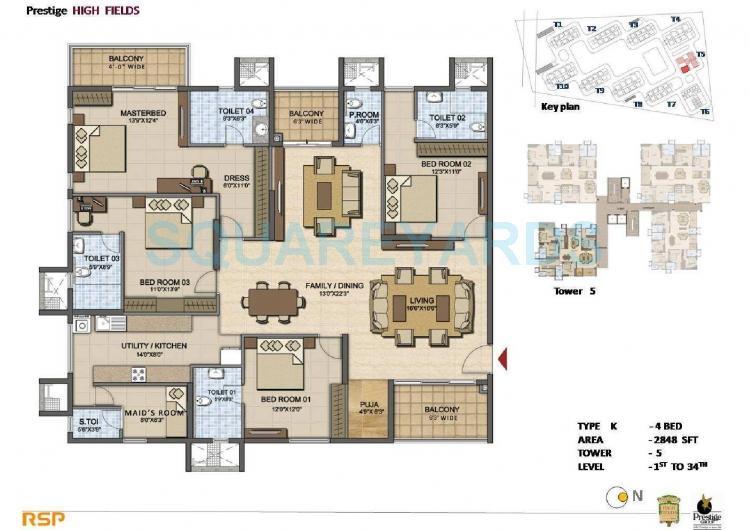 prestige high fields apartment 4bhk 2848sqft1