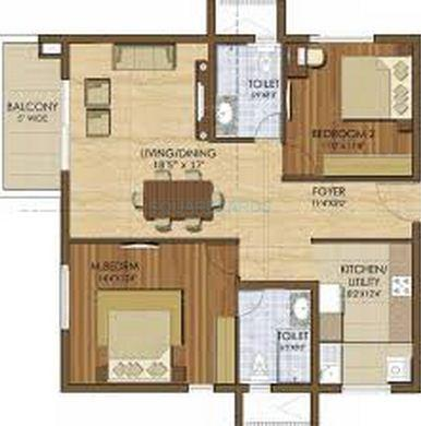 prestige ivy league apartment 2bhk 1327sqft1