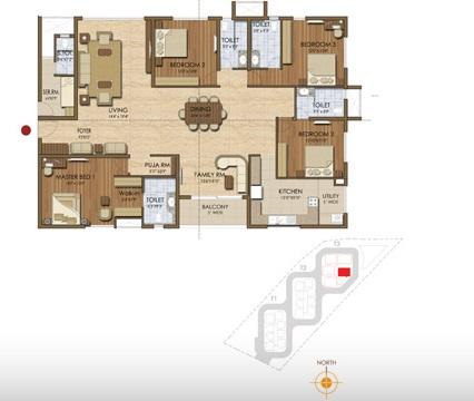 prestige ivy league apartment 4bhk 3044sqft 20202820072801