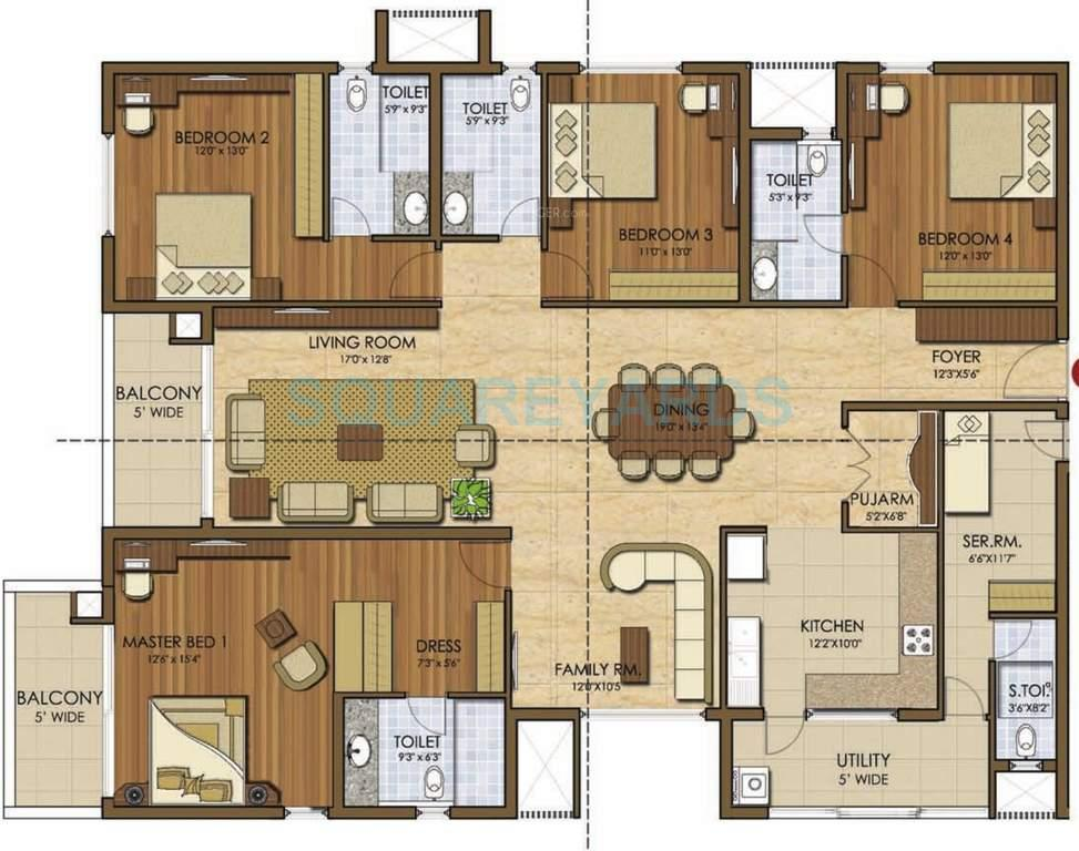 prestige ivy league apartment 4bhk 3049sqft1