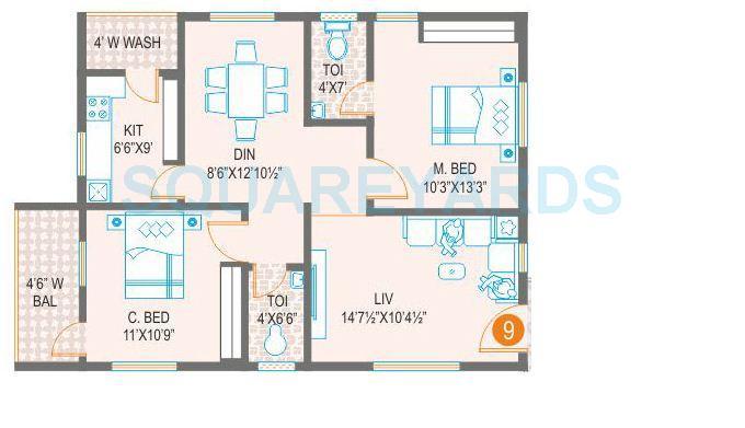 prime arcadia apartment 2bhk 1002sqft1