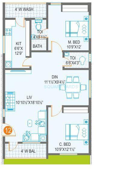 prime arcadia apartment 2bhk 1111sqft1