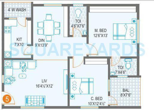 prime arcadia apartment 2bhk 1137sqft1