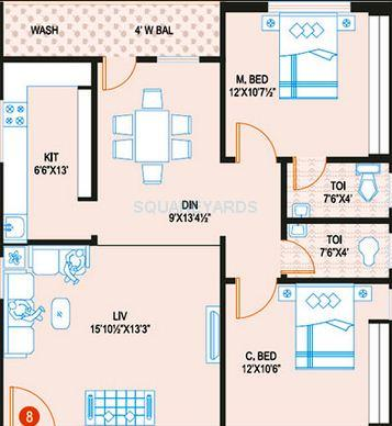 prime heights apartment 2bhk 1172sqft1