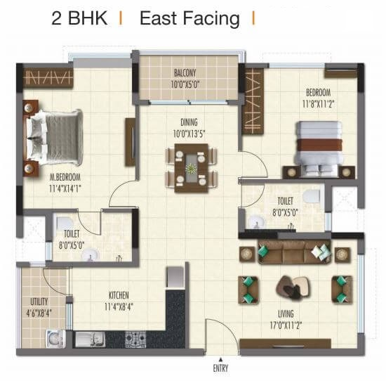 ramky one galaxia phase 2 apartment 2bhk 1268sqft41