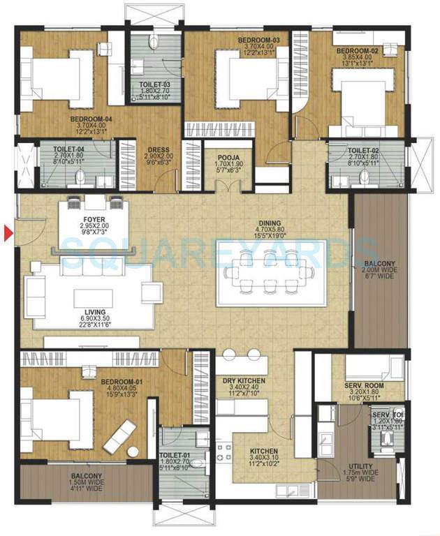 salarpuria necklace pride apartment 4bhk 3600sqft1