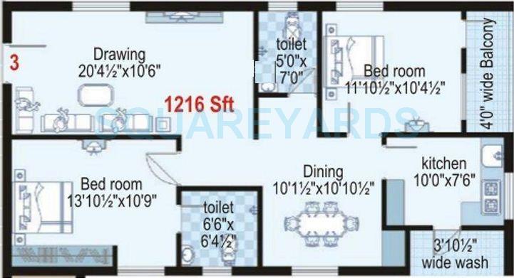shanta sriram harmony heights apartment 2bhk 1216sqft1
