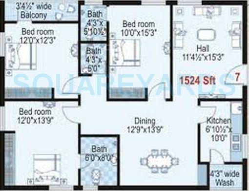 shanta sriram harmony heights apartment 3bhk 1524sqft1