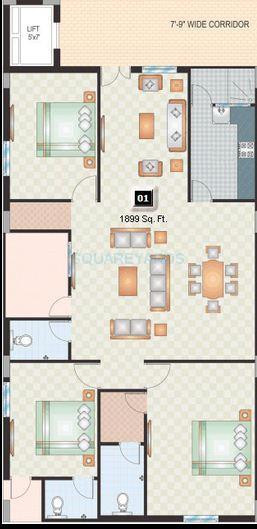 shriya sl square apartment 3bhk 1899sqft1